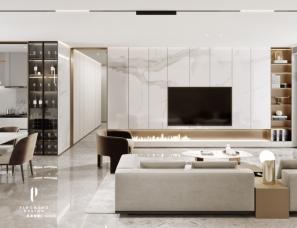 武汉品承设计||武汉天地||现代简奢||125m²+48m²花园