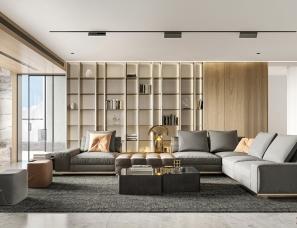 深圳迪尚设计--231平轻奢风 | 细节勾勒有层次的家