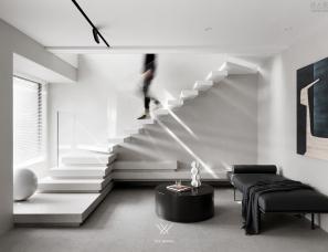 【菲拉设计】悬浮式楼梯,演绎光与影的哑剧