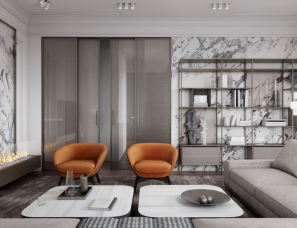 IQOSA--STYLISH APARTMENT 橙色系+灰 国外时尚公寓