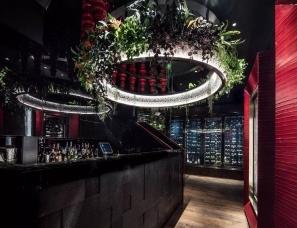 AB Concept 设计--CÉ LA VI香港餐厅,奢华餐厅这样设计才够帅!