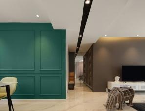 南京青设空间设计--简约主义平层住宅