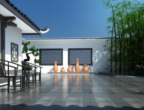 中式风格庭院院子设计案例效果图