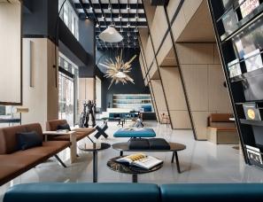MOD墨设设计--上海路劲隽寓公寓大堂