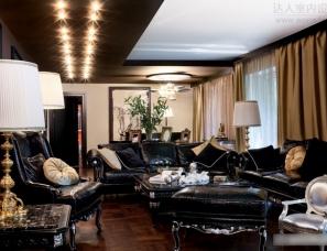 俄罗斯塔蒂亚娜Boronina设计  深色为主的乡间别墅