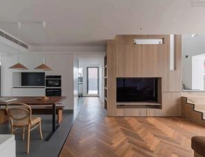 一点设计--精致木质感,舒适而自然的220㎡住宅