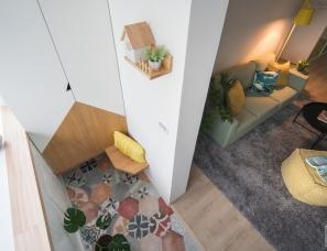 穆丰空间设计--色彩缤纷的北欧宅88㎡