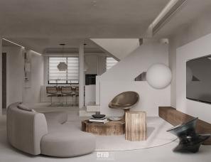 新作 | 诧寂之美,用下沉式设计打造现世中的乌托邦之家!
