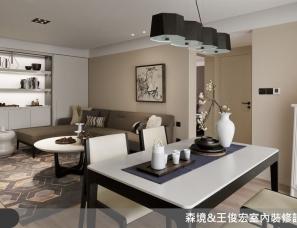 森境&王俊宏设计--引入明亮光流 游艺于不凡的 35 坪雅緻品味