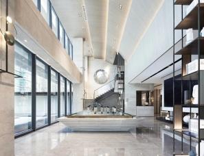 集艾设计+万品建筑设计--上海招商虹桥公馆售楼处