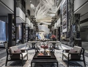 包头绿地国际花都售楼处 用高级灰演绎时尚东方书院