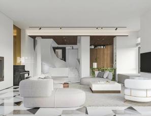 赫设计丨洗尽铅华的极简空间,历久弥新的浓情蜜意!