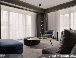 缤纷设计江欣宜设计--47.5坪平层优雅质居