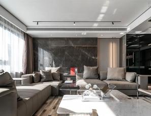 一然设计--沈阳美的瀚堂上叠样板间401㎡