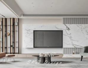观享际SKH设计--金鼎湾状元府 • 水滴时光235㎡大平层