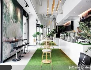 杰宸室內設計--活力滿室的優雅咖啡廳