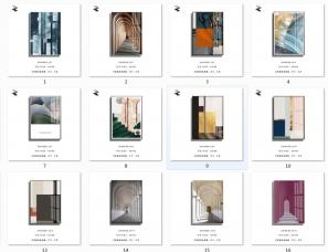 装饰画挂画图库素材分享,装饰画定制生产