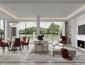 武汉品承设计||碧桂园别墅||欧式轻奢||264m²+花园148m²