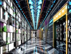 KTV大厅包间-效果图表现案例