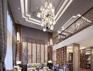深圳辛视设计--君临天下——新中式别墅样板房