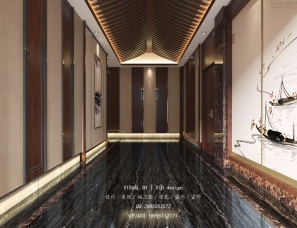 中式餐厅包厢-效果图表现案例