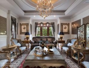 上海鼎族室内装饰设计--中星红庐欧式别墅