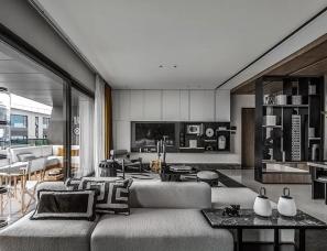近境制作+TCD² Design--重庆万华麓悦江城A4户型样板间