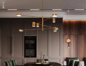 PROSVIRIN DESIGN--翡翠绿点缀的豪华咖色质感家居