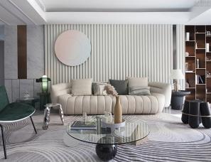 芮迪设计 | 莆田滨河豪园235㎡大平层设计,一镜到底
