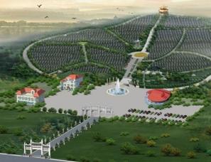 公墓规划设计案例鸟瞰图