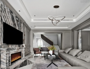 800设计王金建--杭州绿城富春和园法式四合院600㎡