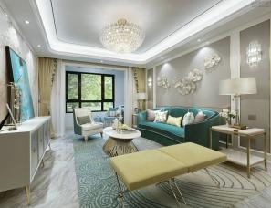 上海天鼓装饰设计--金地·新城·大境A户型样板间