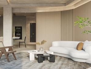 武汉品承设计||金色港湾||联排别墅||侘寂风||300m²
