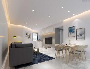 万达中心民宅李工设计-谁说留白的空间沒有温度