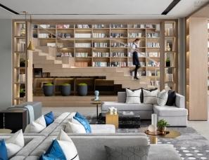 G&K设计--武汉花样年碧云天售楼处,沉浸体验式的艺术图书馆