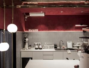 南京线状建筑设计--上海HUGME咖啡厅