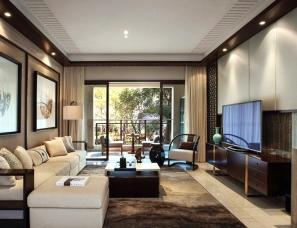 戴勇设计-方直惠州珑湖湾东岸新中式样板房
