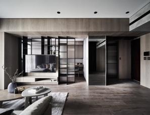 二三设计--深色系质朴的家