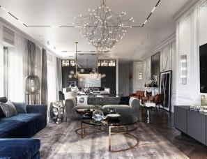 时尚欧美风大宅设计,古典底蕴现代演绎