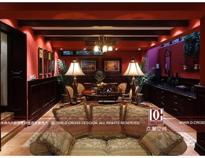 重庆点廓空间设计公司 别墅德克萨斯热浪 极致美式融合