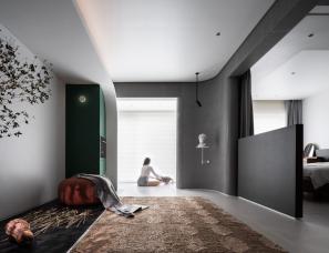 """PUJU朴居设计--两室一厅的""""美术馆"""""""