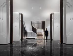 """王贤希设计--爆红""""慢餐厅""""黑白简约风+中式元素"""