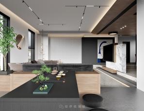 现代客厅餐厅卧室丨如伊视觉(26)
