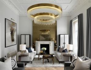 Laura Hammett设计--Belgravia Duplex