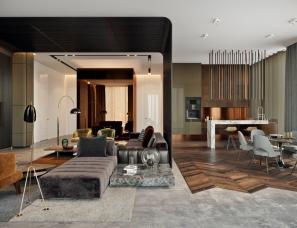TOL'KO interiors设计--莫斯科豪华公寓