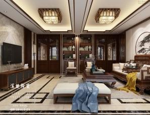 中式别墅家装-效果图表现