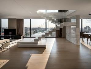 乌克兰MONO architects --Penthouse 180 基辅顶层公寓427㎡