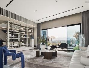 深朴悦设计--重庆中铁建山语城住宅195㎡