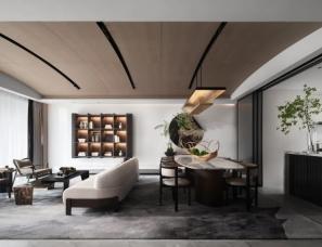 WJID维几设计--南昌华侨城万科・世纪水岸湖山叠墅样板间
