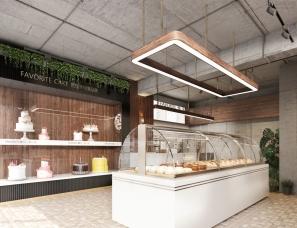 本朴视觉——工装面包店
